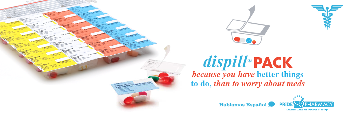 Dispill Pack Medication Packaging at Pride Pharmacy