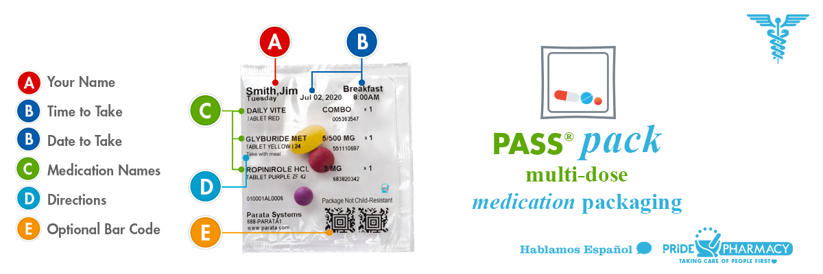 PASS Pack multi-dose medication packets
